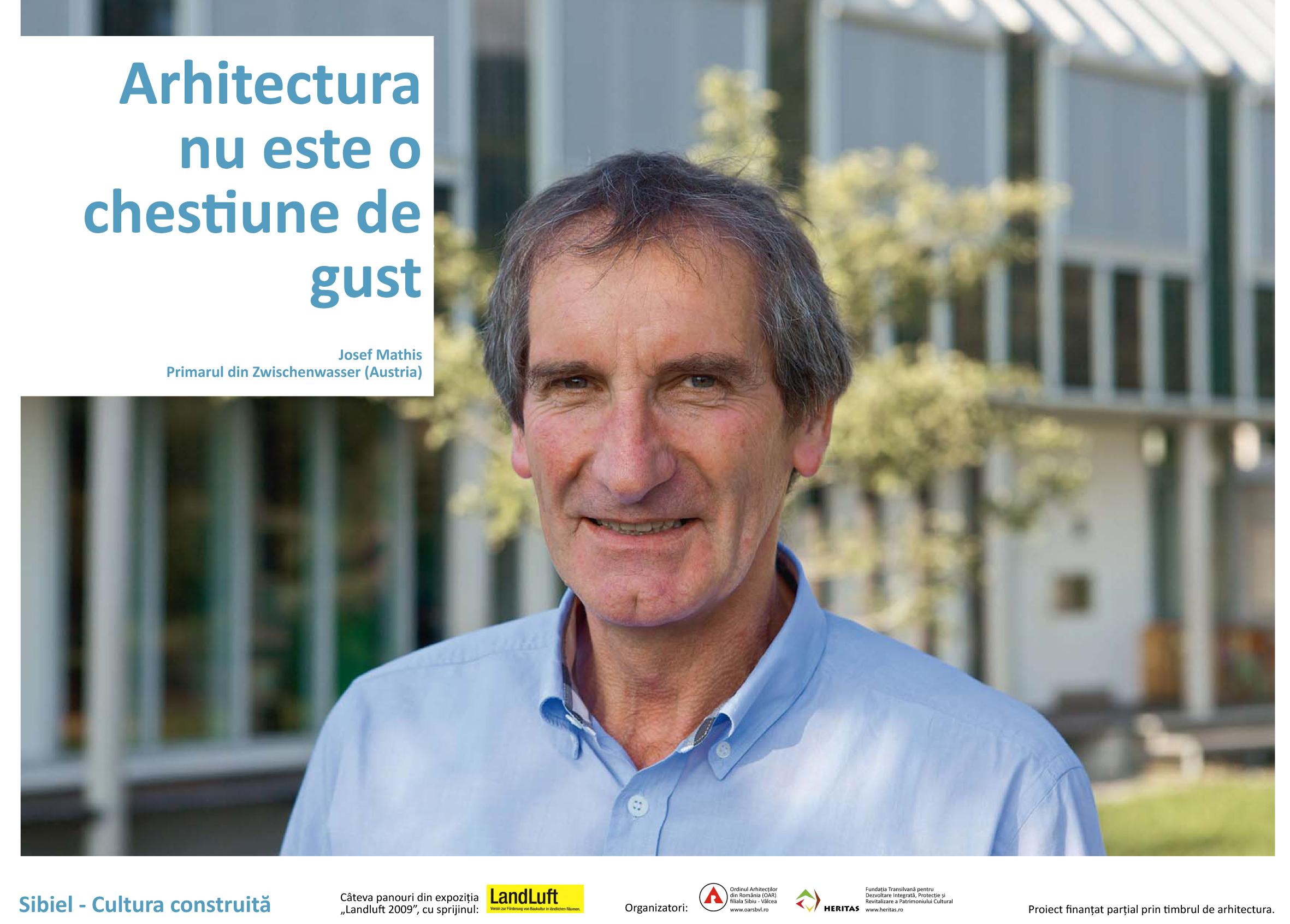 D-nul Josef Mathis, Primarul din Zwischenwasser (Austria)